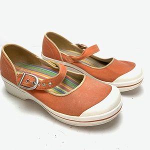 DANSKO VEGAN Canvas Mary Jane Clogs Shoes sz 37